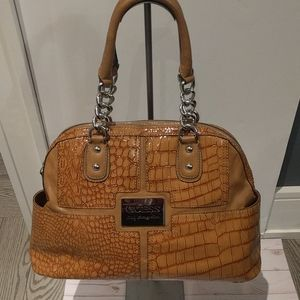 Brown shoulder bag by Guess